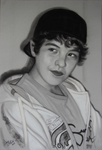 Adolescent-fusain-portrait-diane-berube