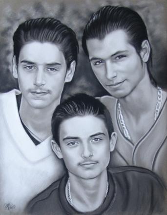 Freres-pastel-portraits-par-diane-berube