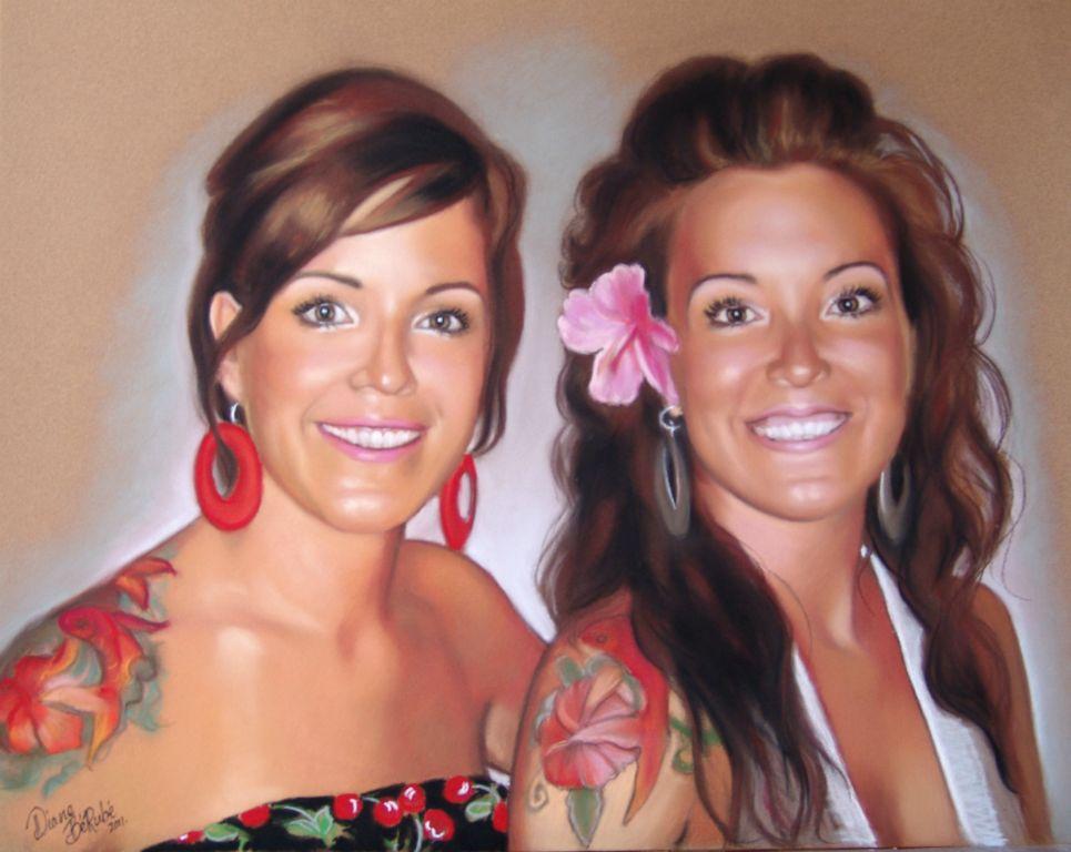 Jumelles-pastel-portrait-diane-berube