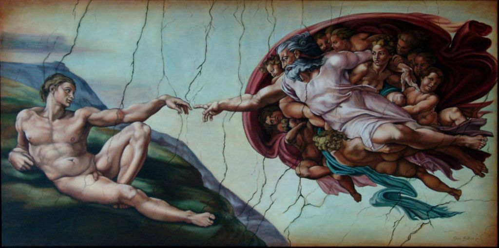 Michelangelo-copie-diane-berube-huile