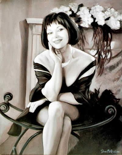 Monochrome-huile-portrait-diane-berube