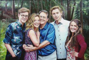 Portrait-famille-huile-diane-berube