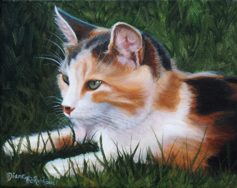 Animalier-chat-huile-diane-berube