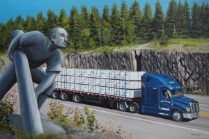 Camion-route-paysage-huile-diane-berube