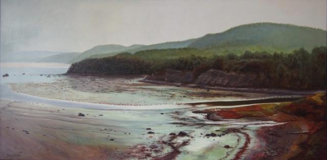 Fleuve-paysage-huile-diane-berube
