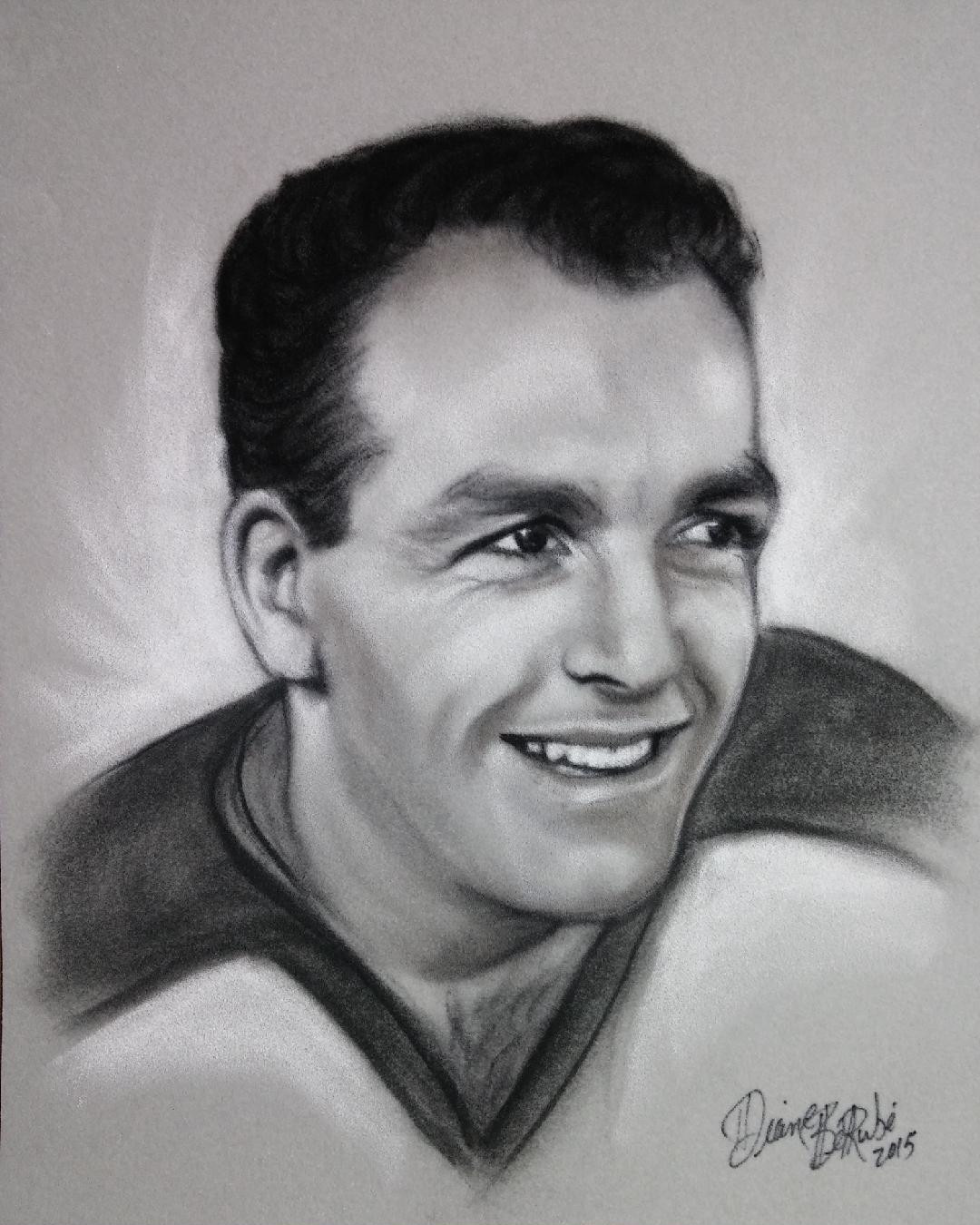 Henri Richard fusain
