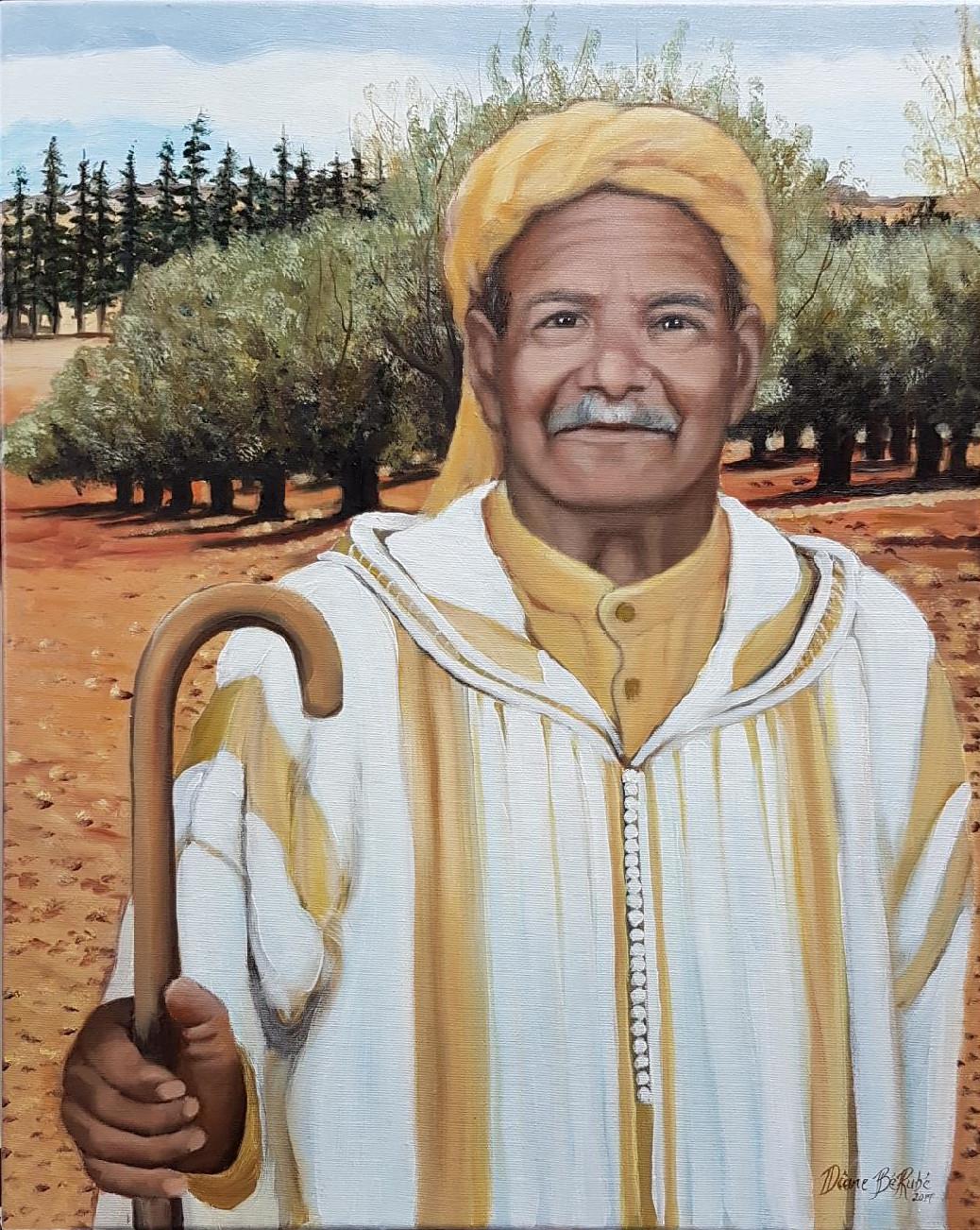 Marocain-portrait-huile-diane-berube