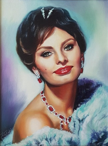 Sophia-portrait-huile-diane-berube