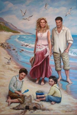 plage-portraits-huile-diane-berube